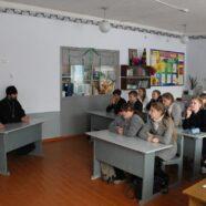 О духовном здоровье поговорили учащиеся и священник в Скосырской школе Тацинского района